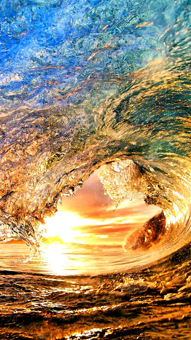 Beautiful Wave For Surfing Download Iphone 5 Wallpapers Wallpaper Iphone 5 Ocean Waves Nature Waves