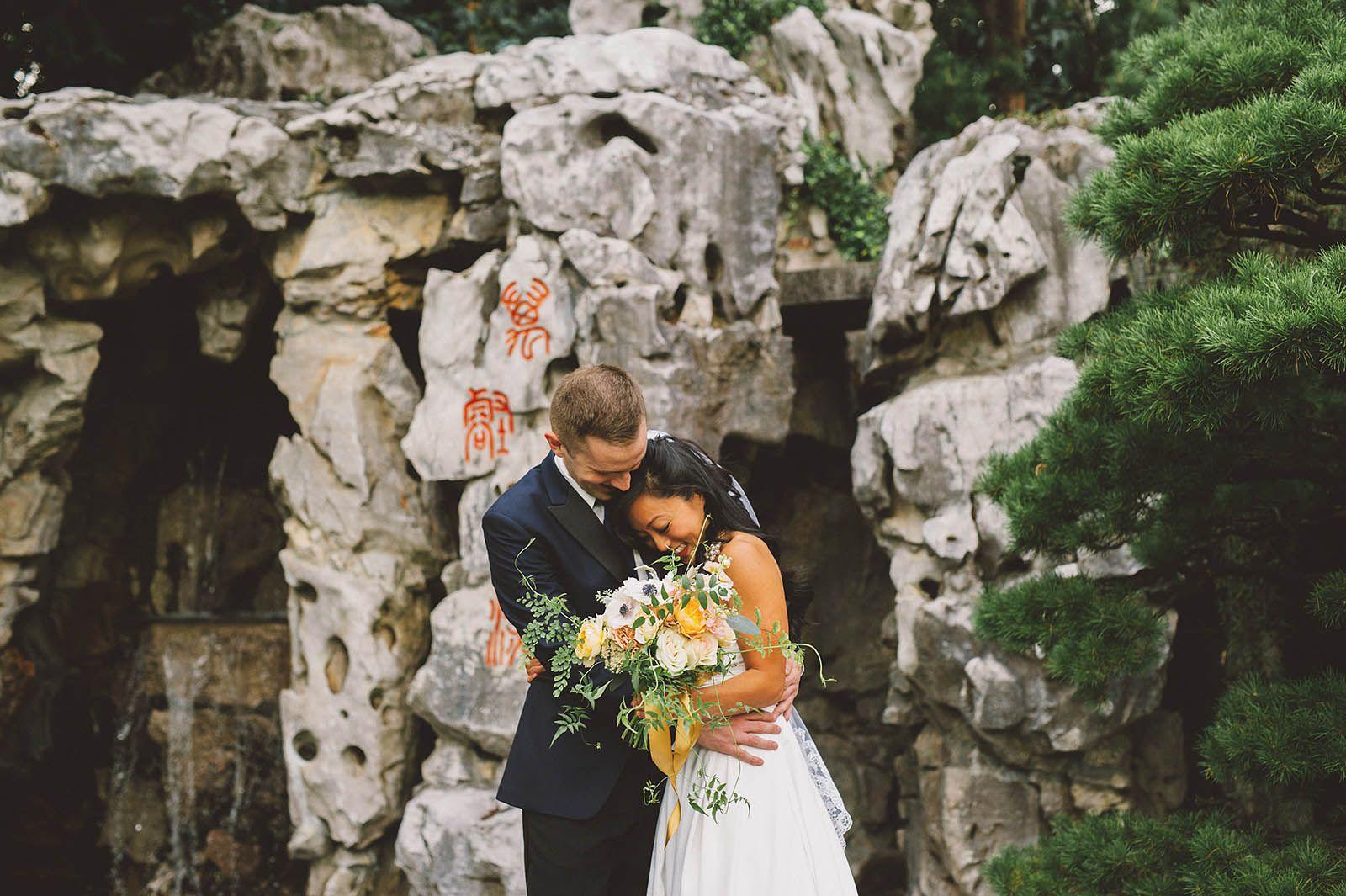 Diane & Rick's Lan Su Chinese Garden Wedding Kim Smith
