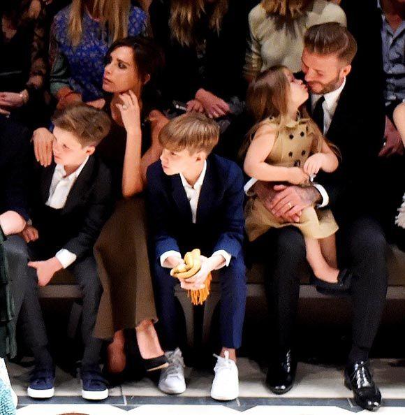 36d7f92df49 Soccer star David Beckham shared a sweet moment with daughter Harper Seven