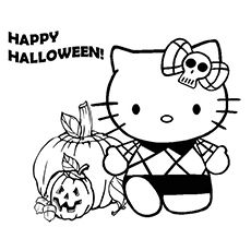 Halloween Coloring Pages Free Printables Momjunction Hello Kitty Coloring Hello Kitty Colouring Pages Kitty Coloring