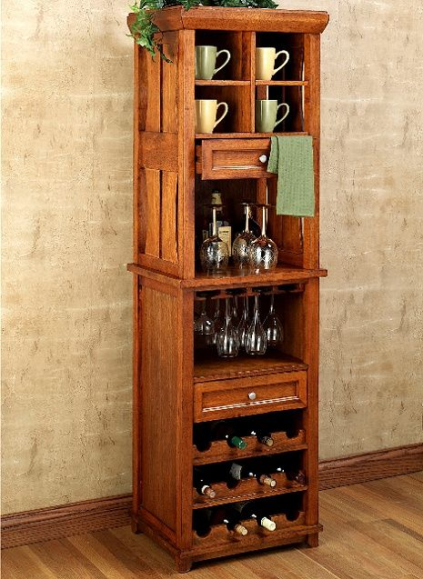 c6f9f0dcc7 craftsman style wine rack | Mission Craftsman Cherry Wine Rack Bar Cabinet