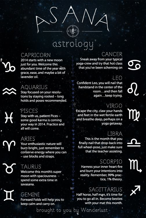 January 2014 yoga forecasts! #horoscope #astrology #stars #yoga
