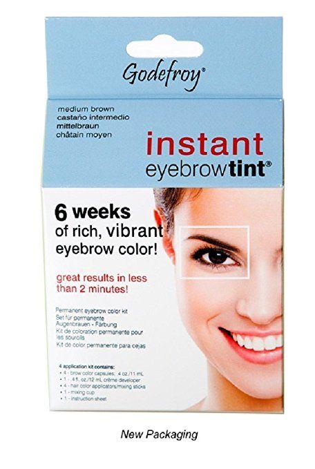 Godefroy Instant Eyebrow Tint Permanent Eyebrow Color Kit, Medium ...