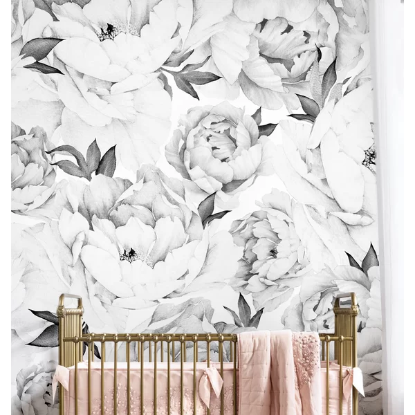 Tia Peel And Stick Wallpaper Tile Floral Wallpaper Bedroom Peony Wallpaper Floral Wallpaper
