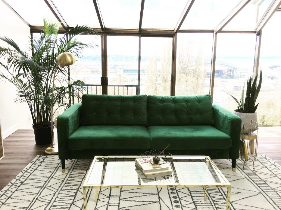 Karlstad 3 Seater Sofa Cover In Rogue Emerald Velvet By Comfort Works
