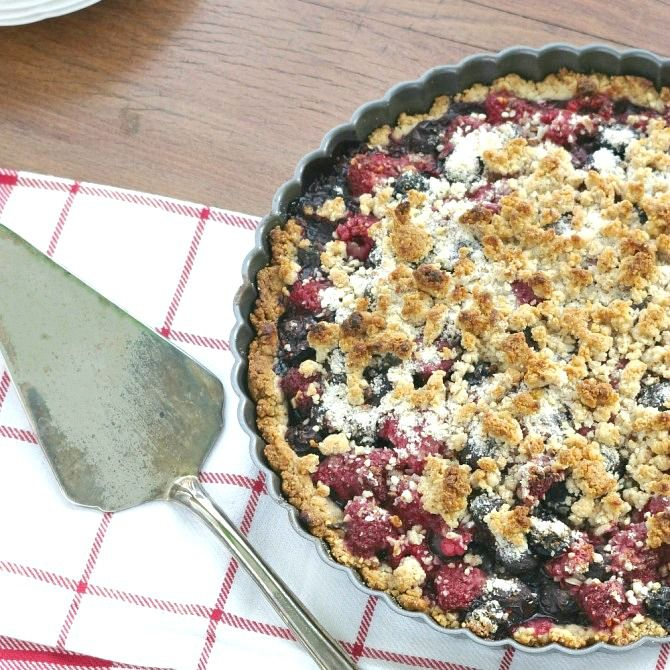 Berry Almond Tart