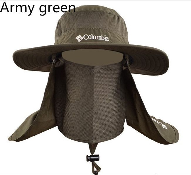 9a142f14c7727 summer waterproof wide brim fishing hat UV protection hat brand men camo  bucket hat sun protection fisherman hat with string
