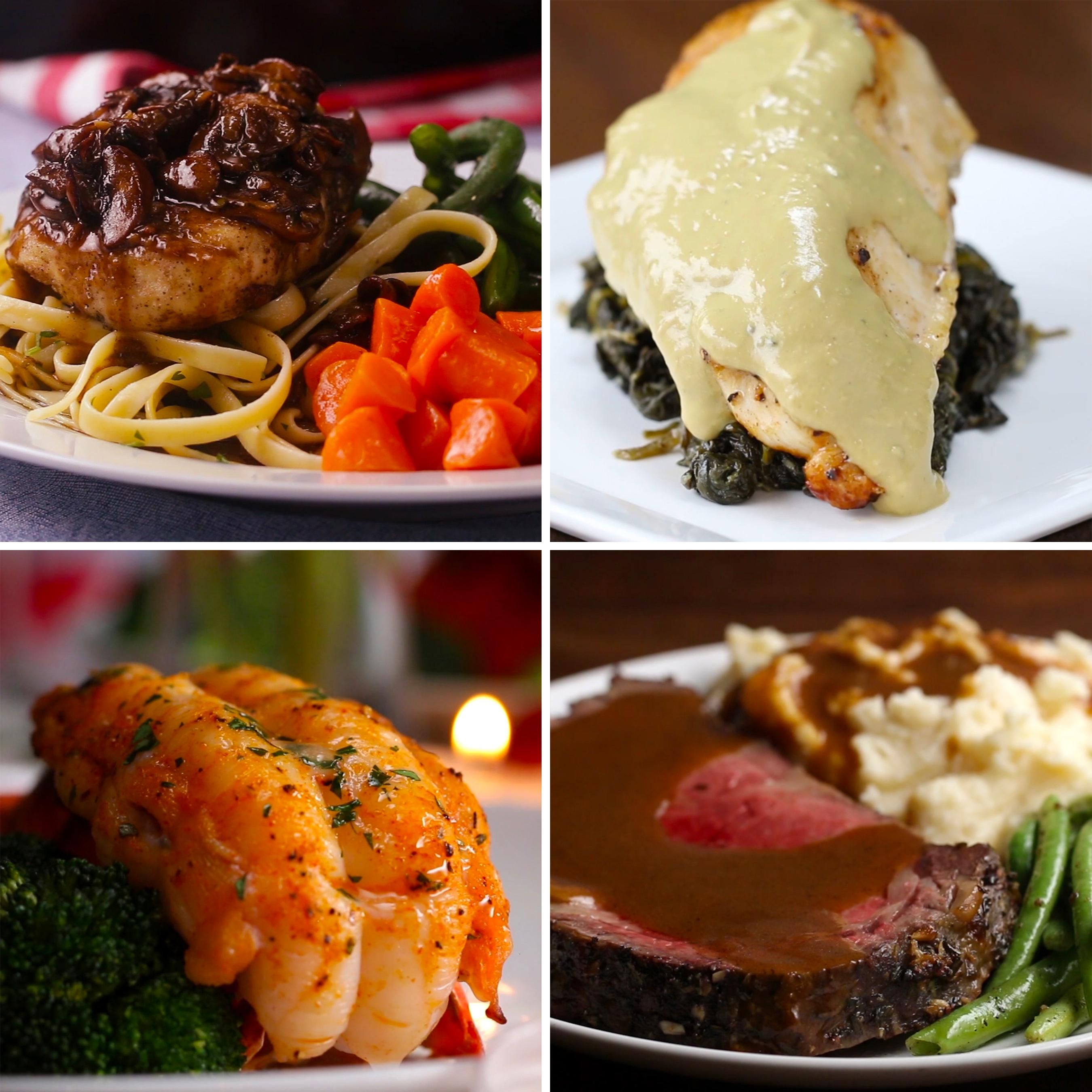 Featuring Cabernet-braised Short Ribs, Puff Pastry Salmon