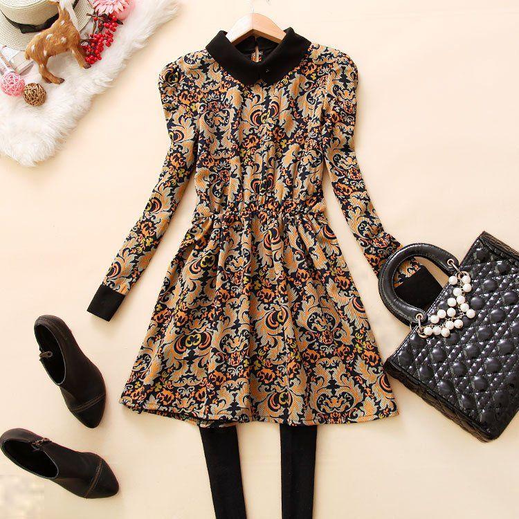 $10.67 long-sleeved waist chiffon dress -zzkko.com/pic