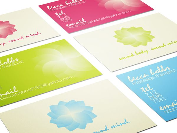 Set of elegant multi color massage therapist business card templates set of elegant multi color massage therapist business card templates designed by rosanne hobbs fbccfo Image collections
