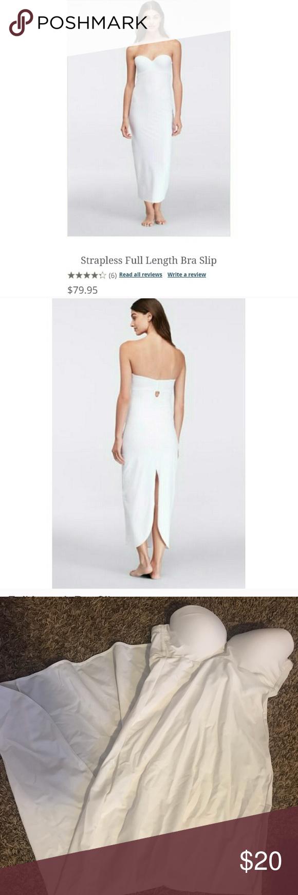 Wedding dress slip  Strapless Full Length Bra Slip  Conditioning Customer support and