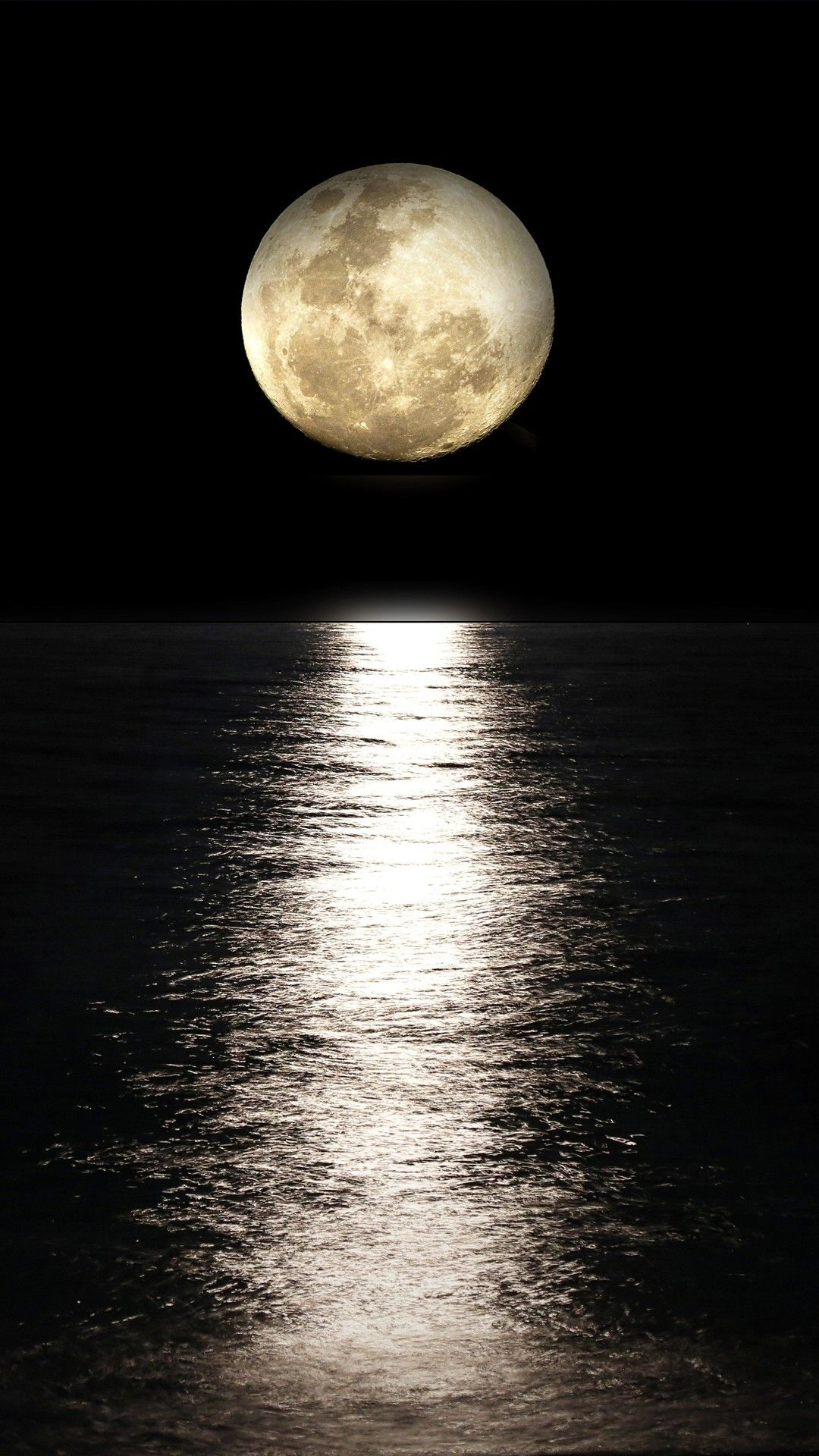 Dark Night Moon Reflection In Sea 5k In 1080x1920 Resolution Moon Photography Shoot The Moon Moon Sea Hd wallpaper sea moon water reflection