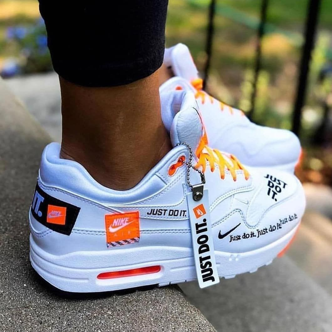 air max one just do it blanche orange