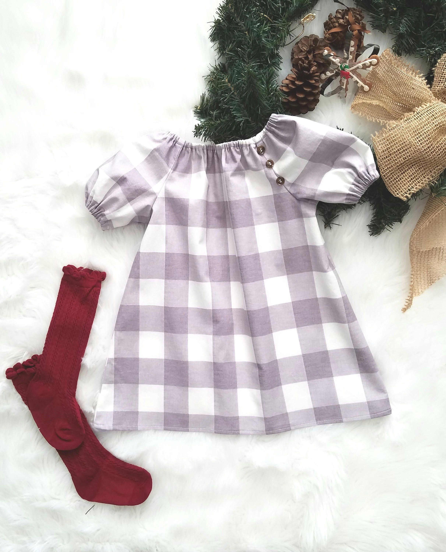 18952c492b92 Baby Girls Christmas Dress-Toddler Dress-Boho Dress-Girls Buffalo Plaid-Girls  Christmas outfit-girls gray dress-baby dresses-sizes NB-4T by  GeeBabyDesigns ...