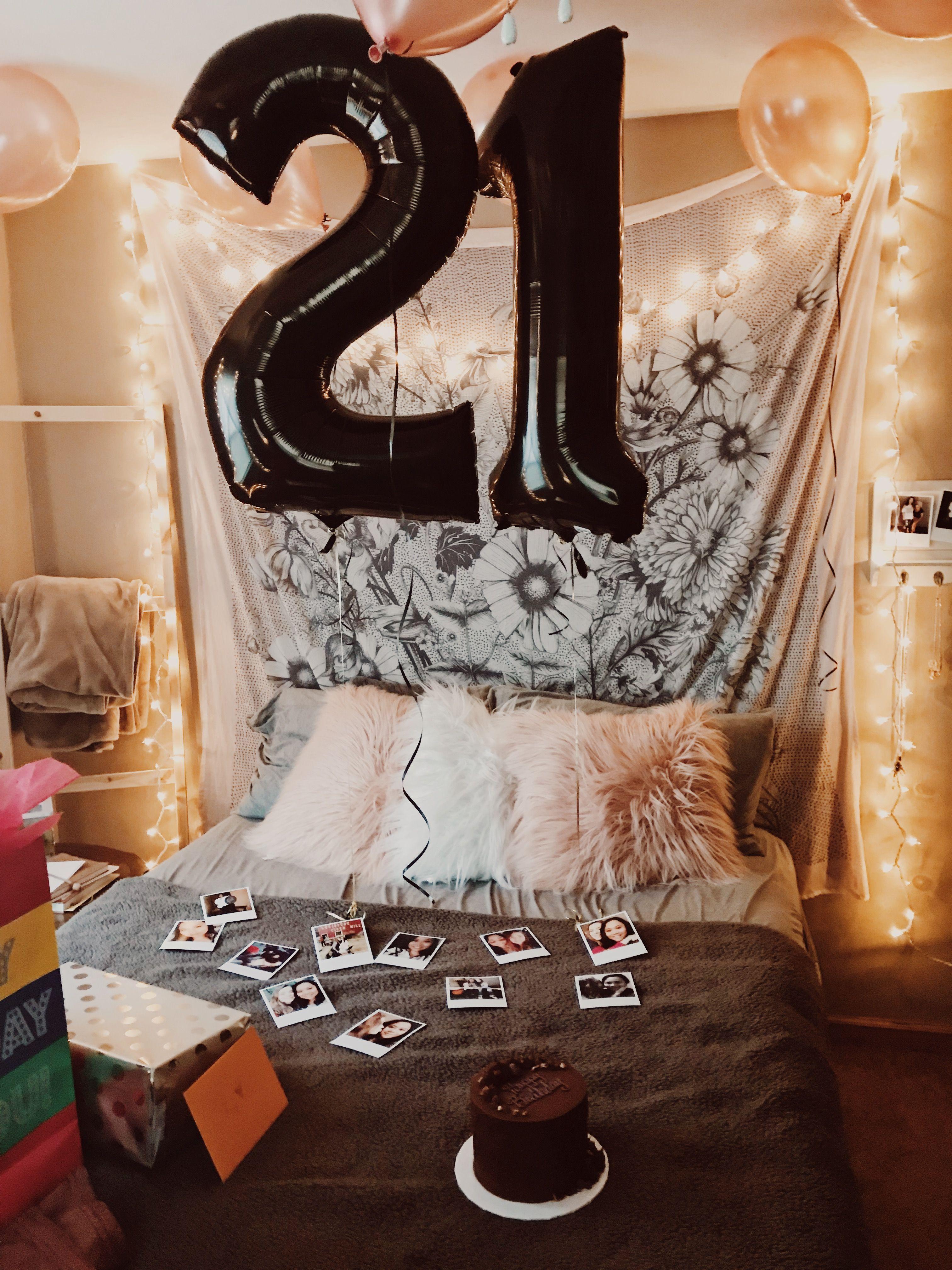 21st Birthday Girlfriend 21 Balloons Surprise Party Presents Bedroom Girlfriendbirthdaygifts