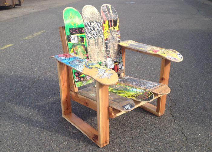 Skateboard Furniture | JRV Boy Toys. Skateboard Chair jrydevisuals.com