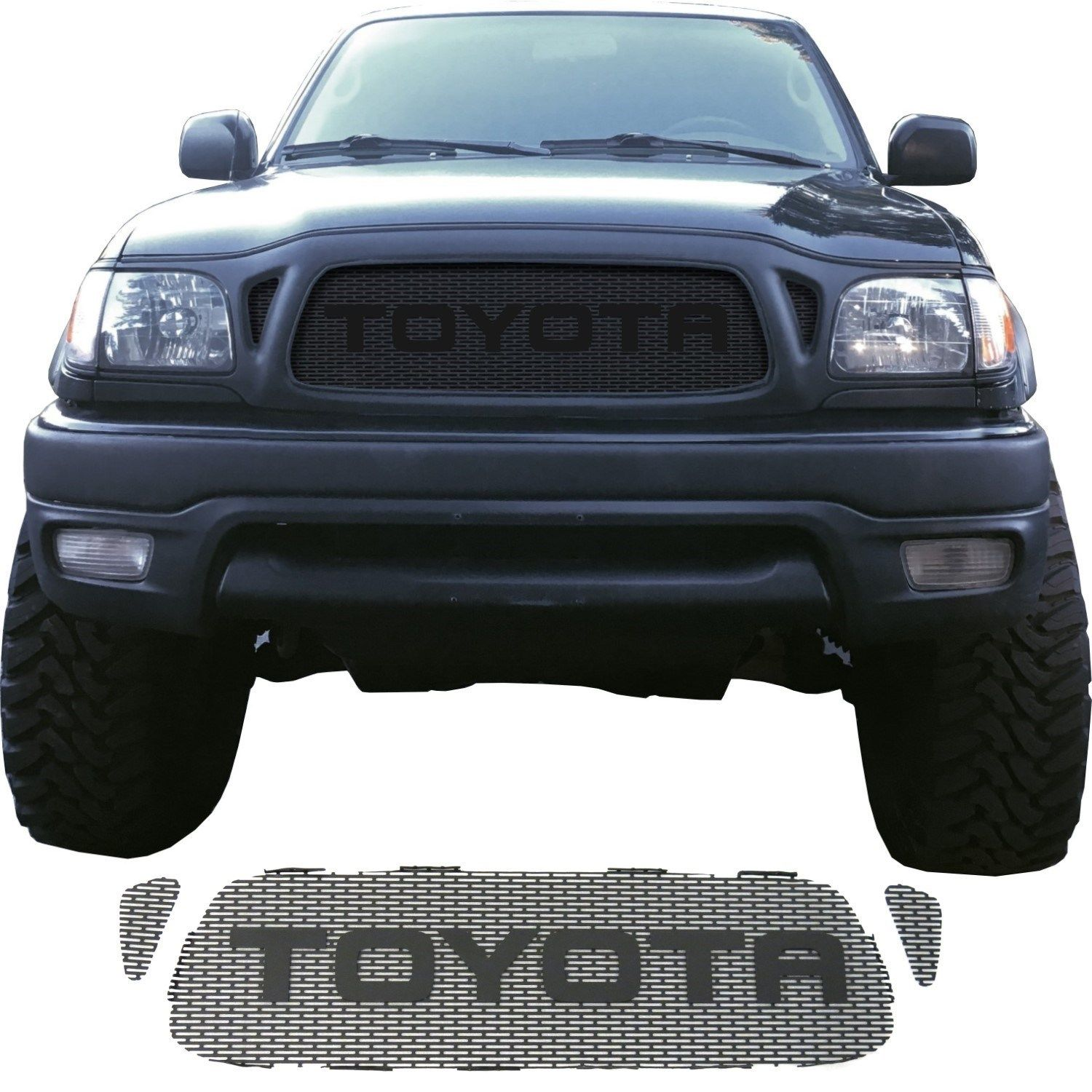2001 04 Toyota Tacoma Grill Mesh With Rounded Letters Toyota Tacoma 2004 Toyota Tacoma Tacoma Grill