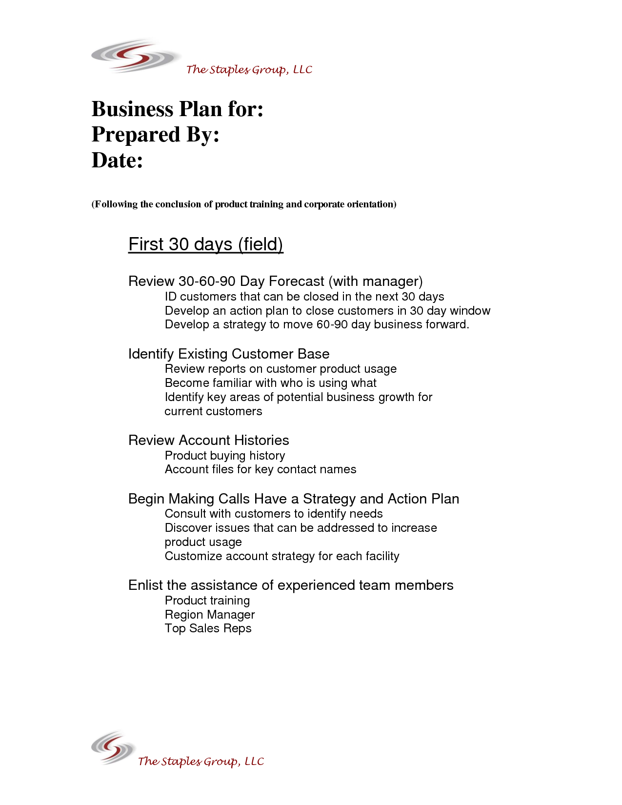 Pin by A List Resources LLC on 30 60 90 Day Business Plan Sales
