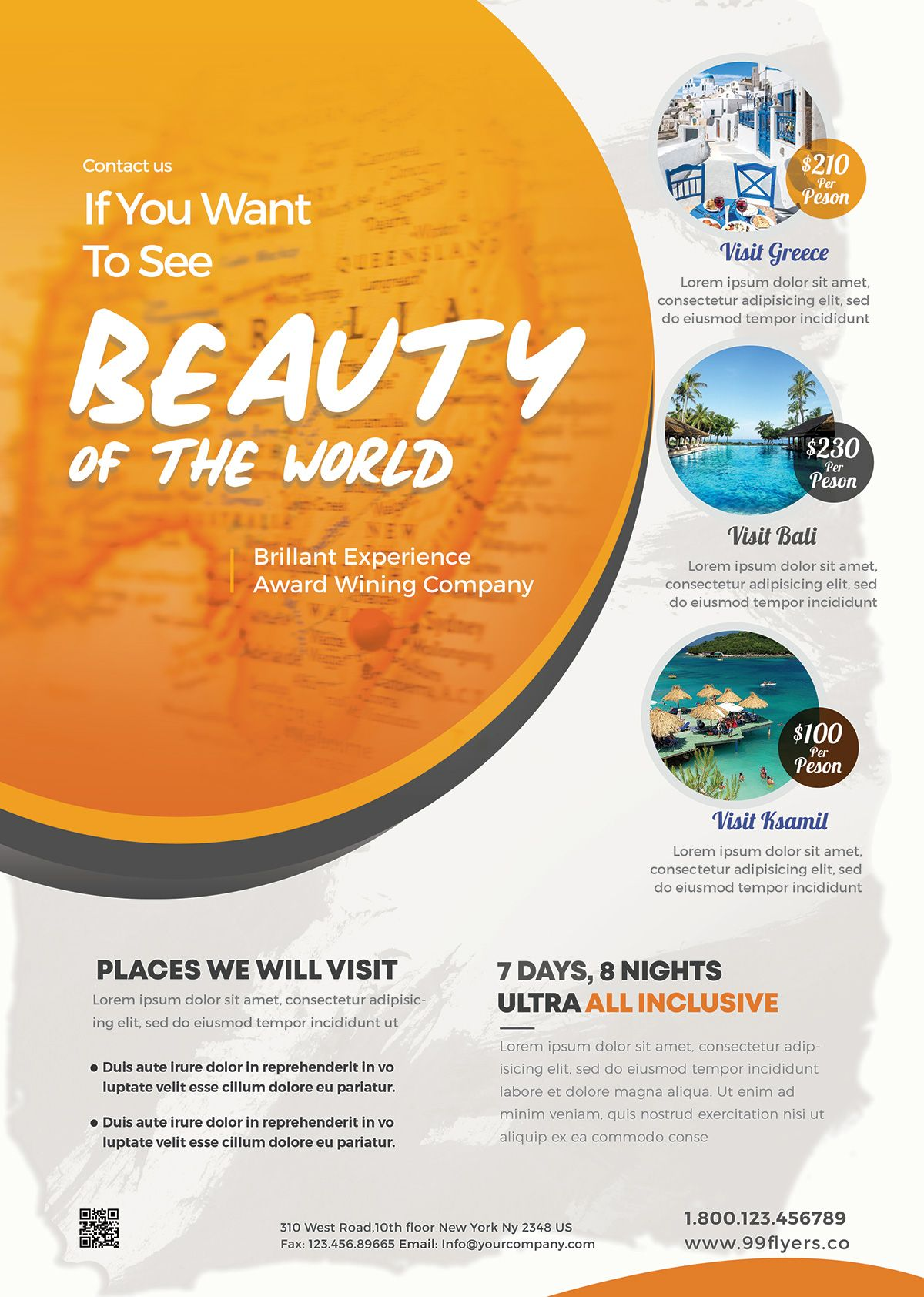 Free Travel Tour Psd Flyer Template Free Brochure Template Free Flyer Templates Psd Flyer Templates
