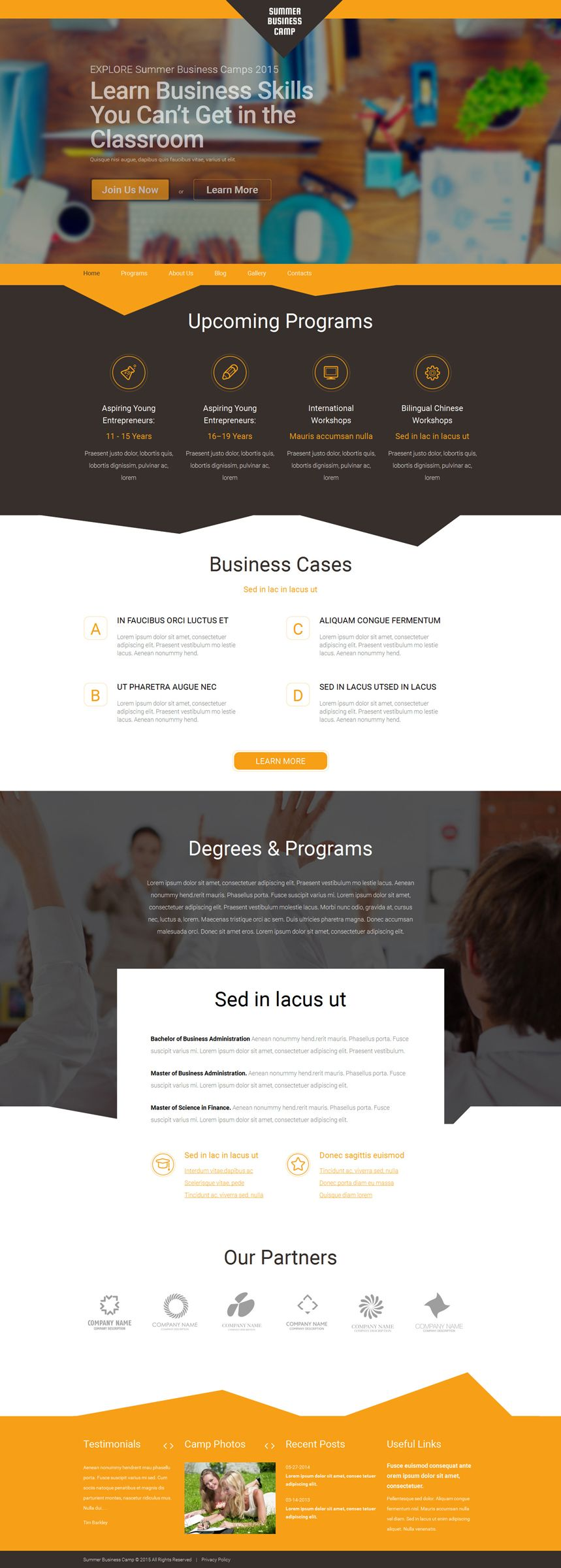 Summer Business Camp WordPress Theme