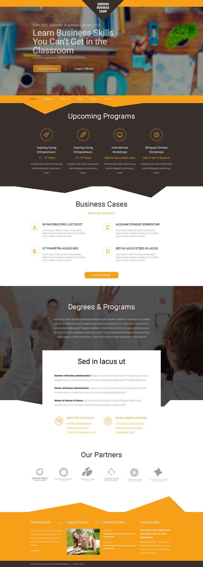 Summer Business Camp WordPress Theme