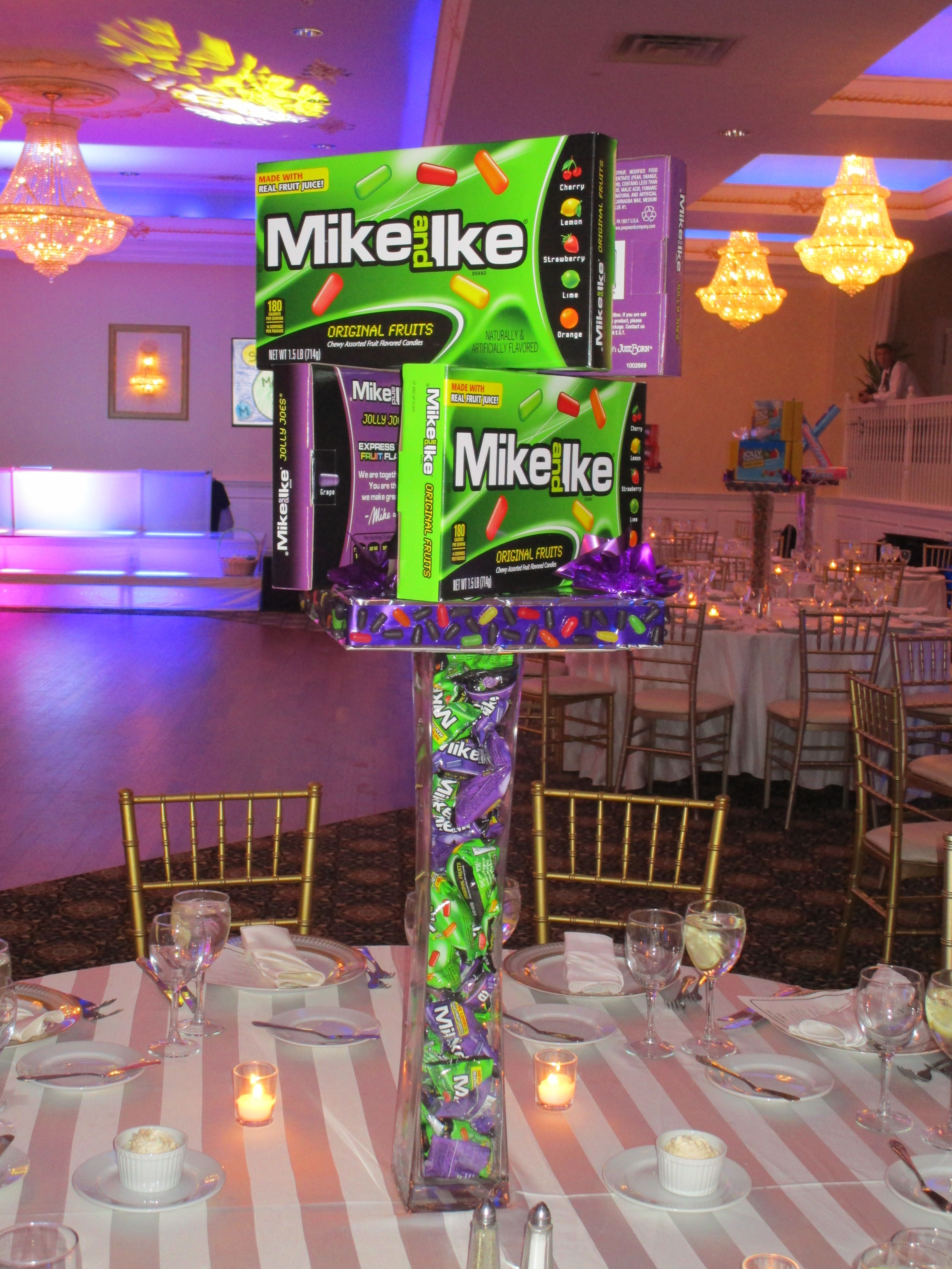 This Is The Mike N Ike Centerpiece For The Candy Theme Bat Mitzvah