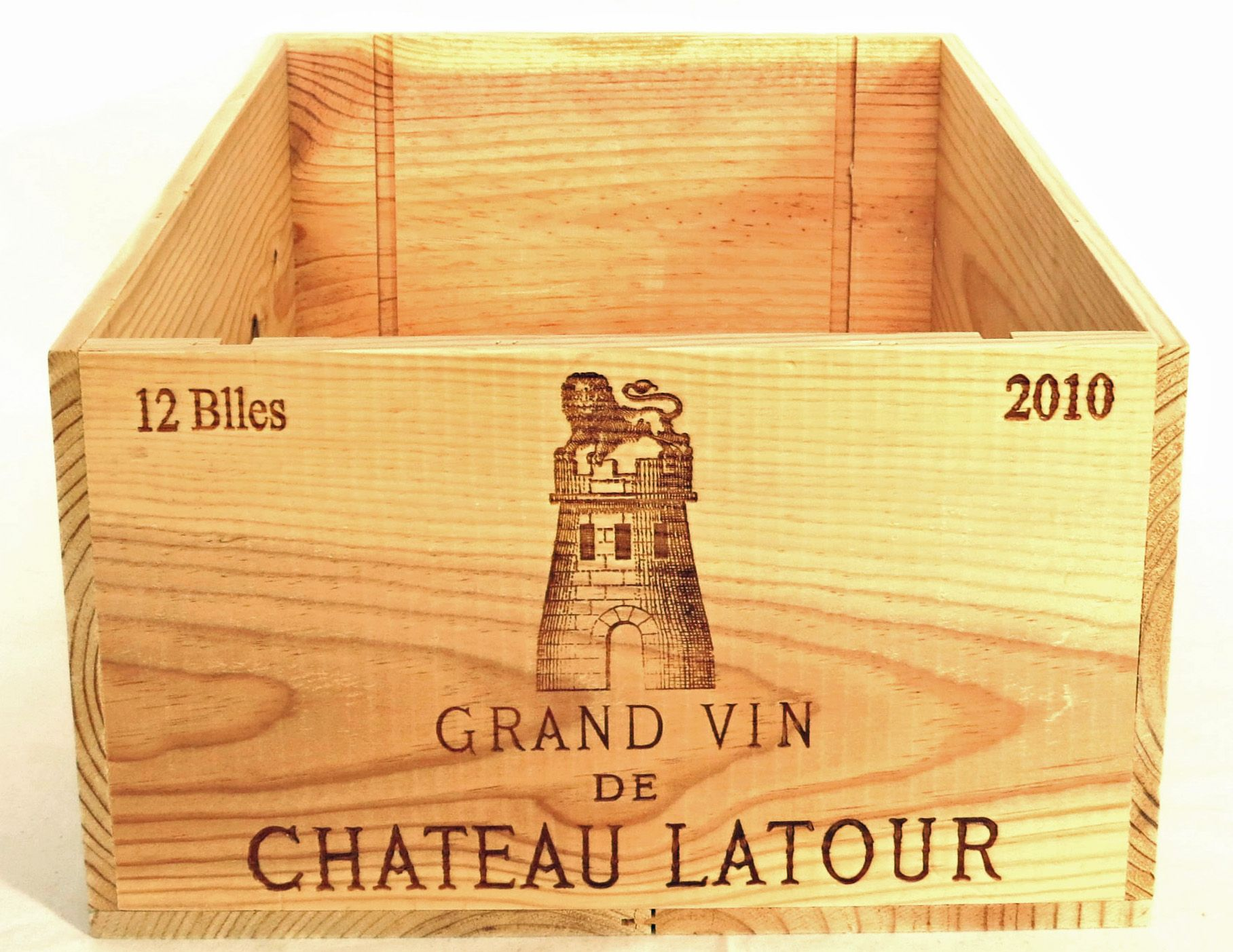 Authentic 2010 chateau latour wooden wine crate without What to do with wine crates