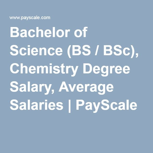 Bachelor Of Science Bs Bsc Chemistry Degree Salary Average Salaries Chemistry Degree Bachelor Of Science Mathematics