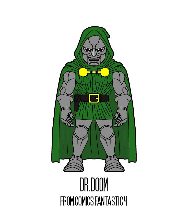 DR.DOOM   http://herosandvillains.tumblr.com/post/12234772824 by TM