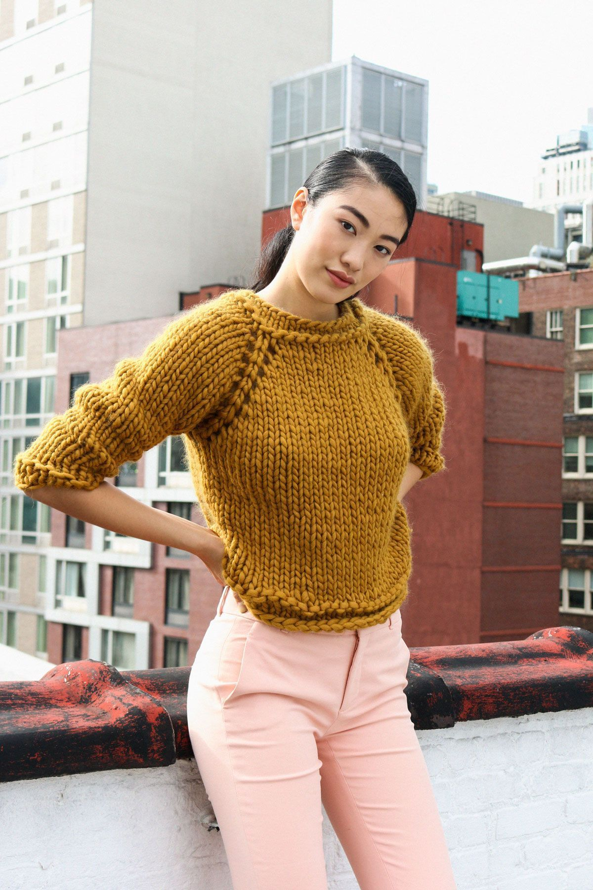 Photo of Denver Sweater :  Easy level knitting kit. Knitting kit for beginners. #knitting…