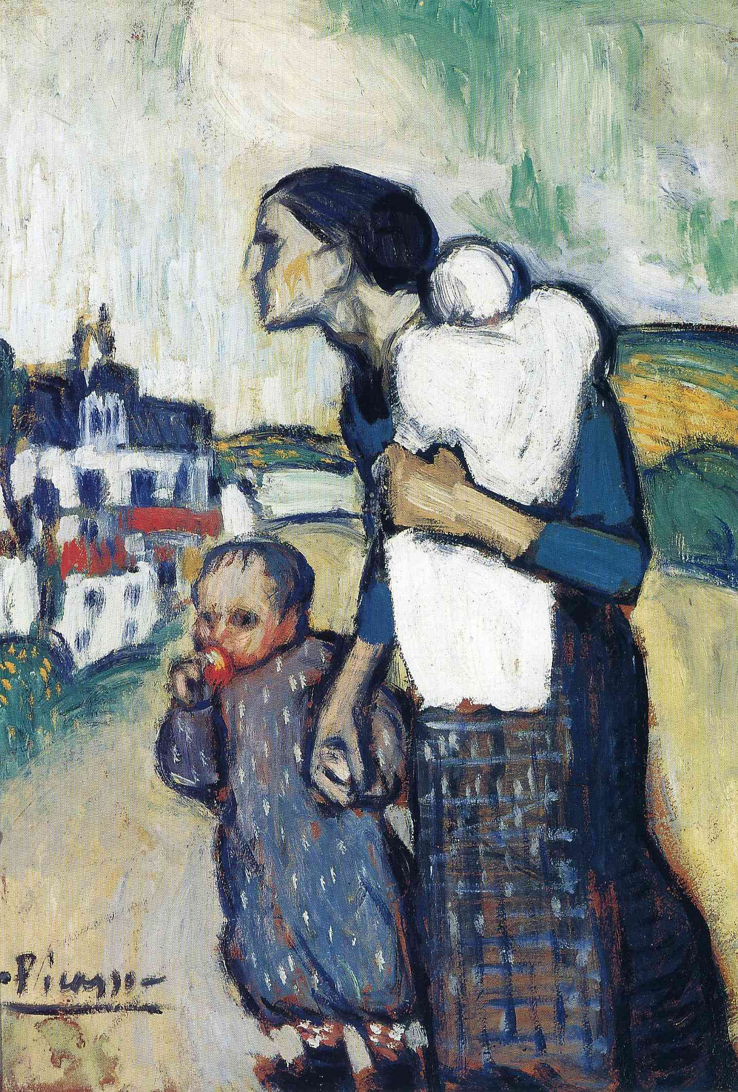 The mother leading two children - Pablo Picasso - Blue Period - 1901 ...