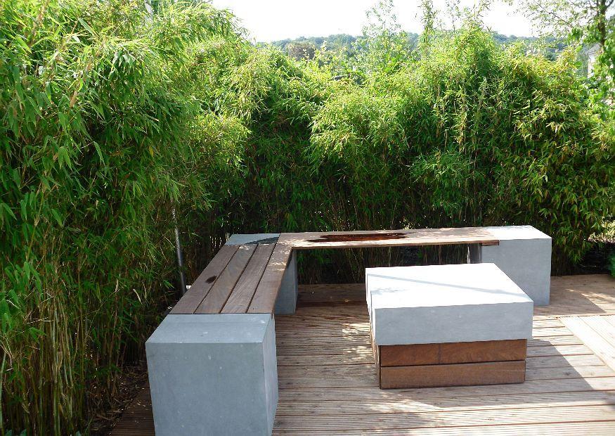 Bambus garten Modern Decor Pinterest - gartengestaltung modern sichtschutz