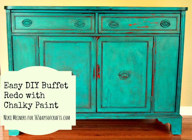 How To Use Chalk Paint To Revamp An Old Buffet
