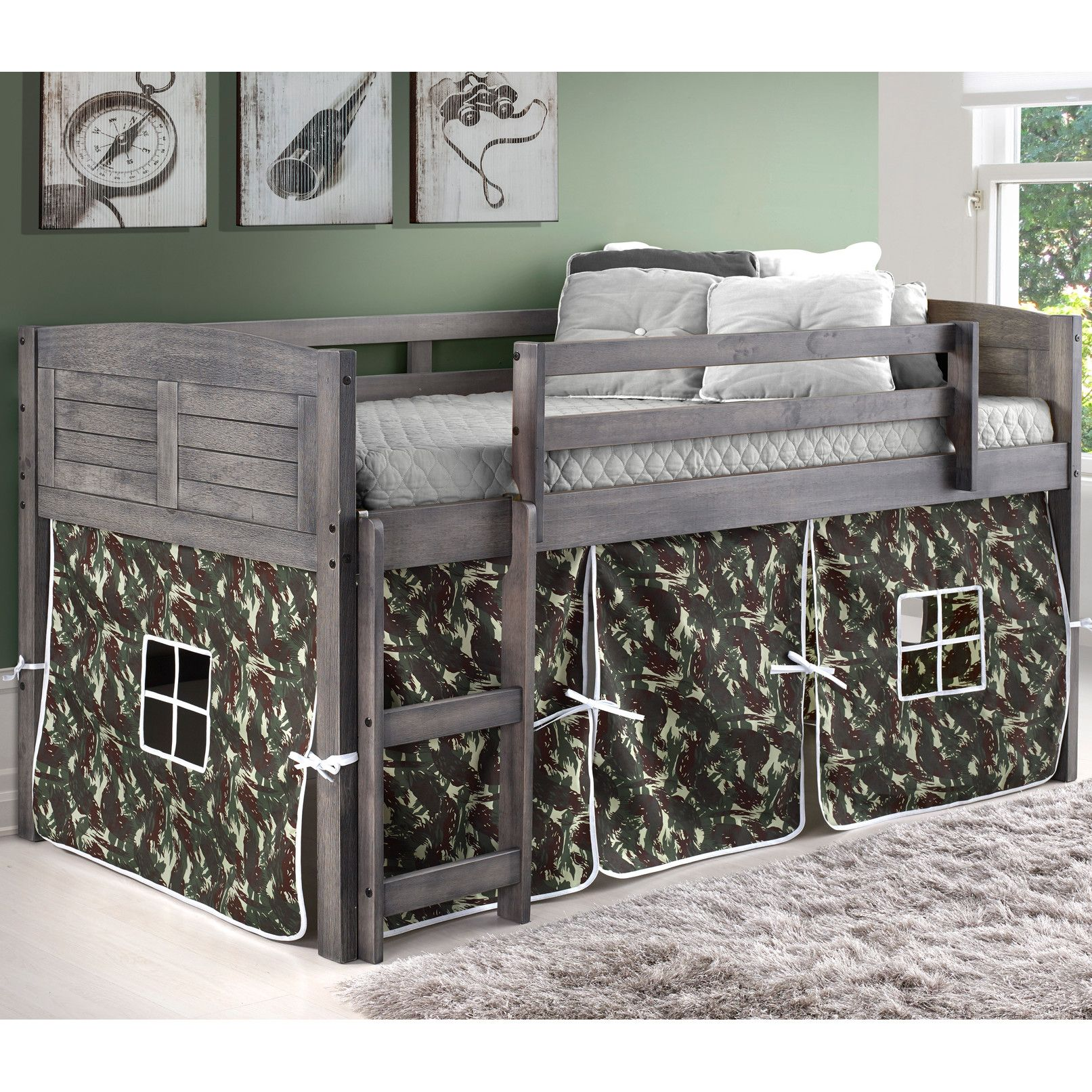 Low loft bed twin  Donco Kids Twin Low Loft Bed  Things for the House  Pinterest