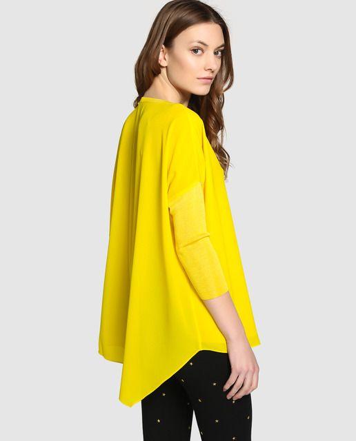 fc422d68f1f5 Blusa oversize de mujer Elogy en color amarillo | blusas | Blusas ...
