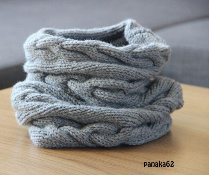 tuto snood à torsade - panaka62 (5)   Tricot   Pinterest   Halstuch ...