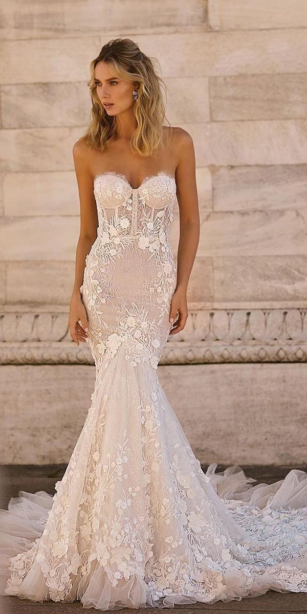 30 Mermaid Wedding Dresses You Admire | Wedding Forward #bertaweddingdress