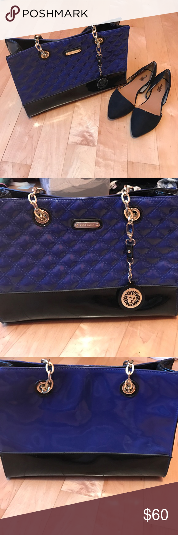 Blue Anne Klein Bag Never used, beautiful blue bag by Anne Klein Anne Klein Bags Shoulder Bags