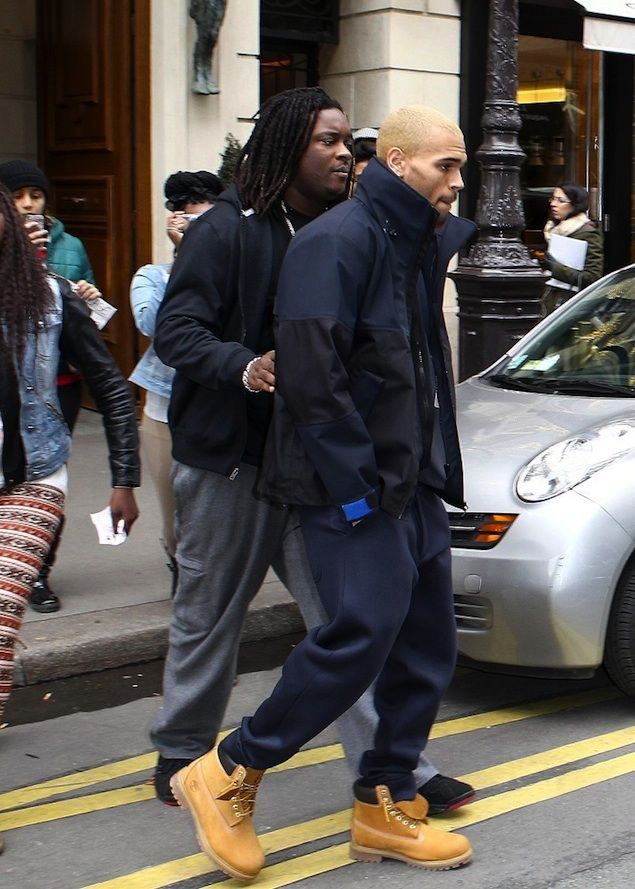 773929cc2b1b9e Chris-Brown-leaves-hotel-in-London-wearing-Timberland-Boots ...