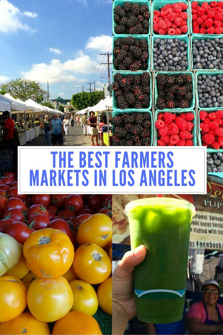 If you come to Los Angeles, you need to visit one of the many farmers markets around town. It's a great place to get the freshest produce while you're on your trip (healthy!), delicious food, snacks, merchandise, and do some great people watching!!!
