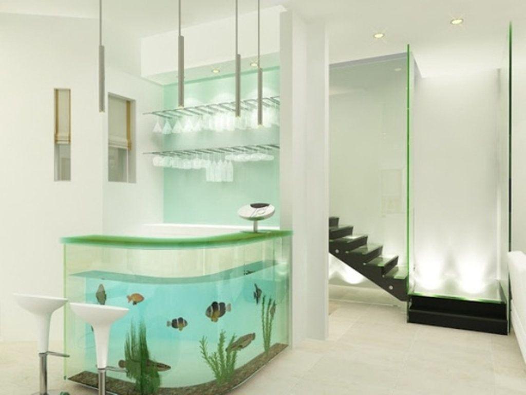 fabulous modern fish tank aquarium design in modern home ideas