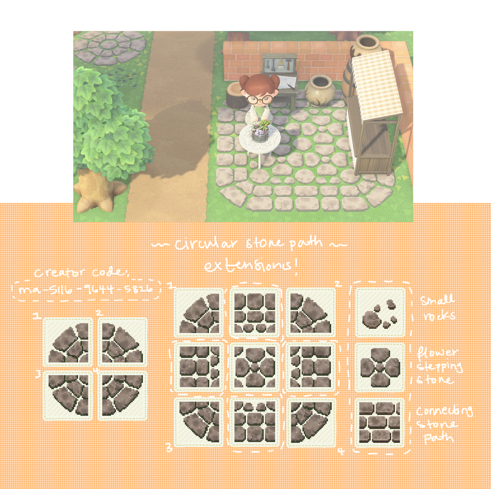 made some stone path designs!