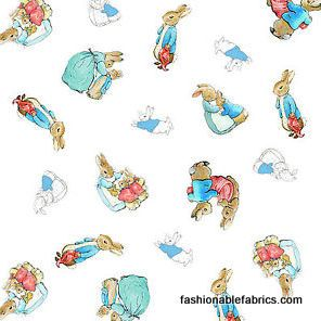 Fabric... Beatrix Potter Cotton Tale Characters from Quilting Treasures