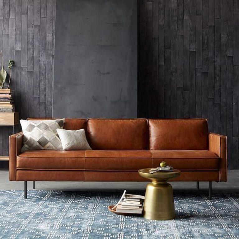 24 Comfy Modern Leather Brown Sofa Design Ideas For Living Room Livingroomideas Livingroomdecorat Brown Living Room Brown Sofa Design Brown Sofa Living Room