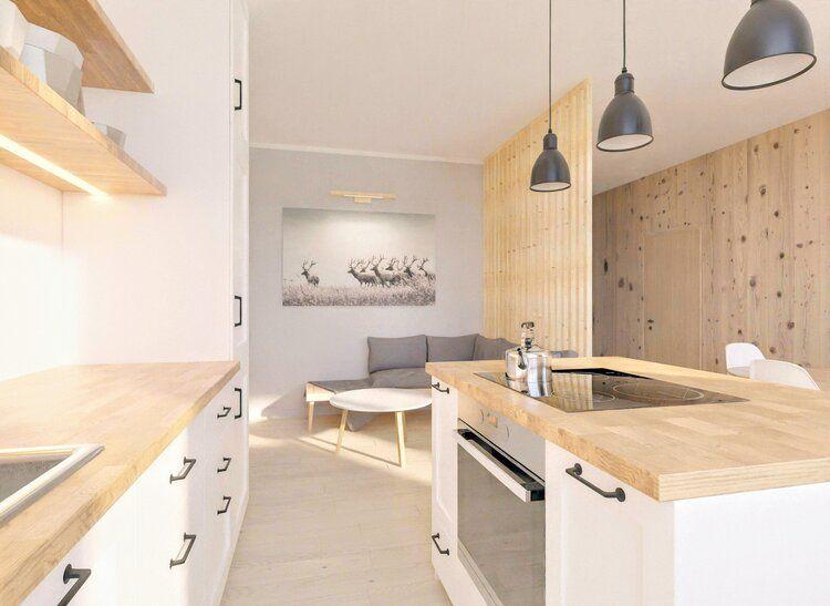 Piekna Kuchnia Styl Skandynawski Drewno Biel Czern Jasne Mieszkanie Projekt Wnetrza Wood Interior Design Scandinavian Interior Wood Design