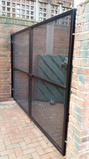 Perforated Gate By Dcg London Ltd Fence Pinterest