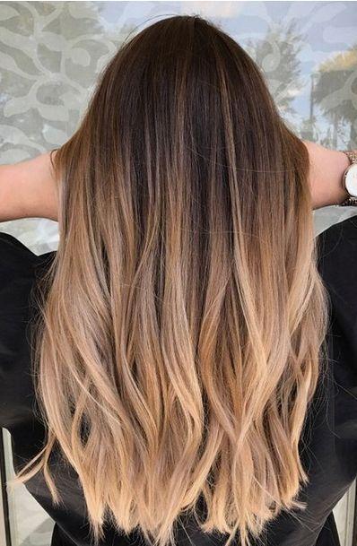 35 Heiße Ombre-Haarfarbtrends für Frauen im Jahr 2019, #balayagehairstraight #Frauen #für #H #brownhaircolors