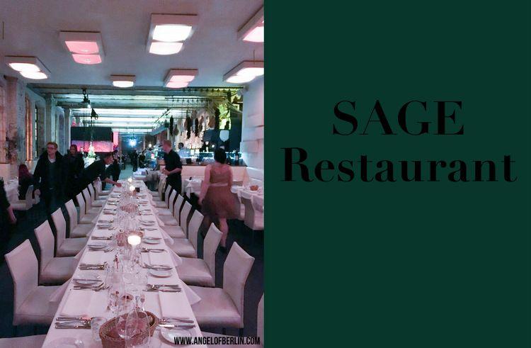 [My Berlin Places] SAGE Restaurant