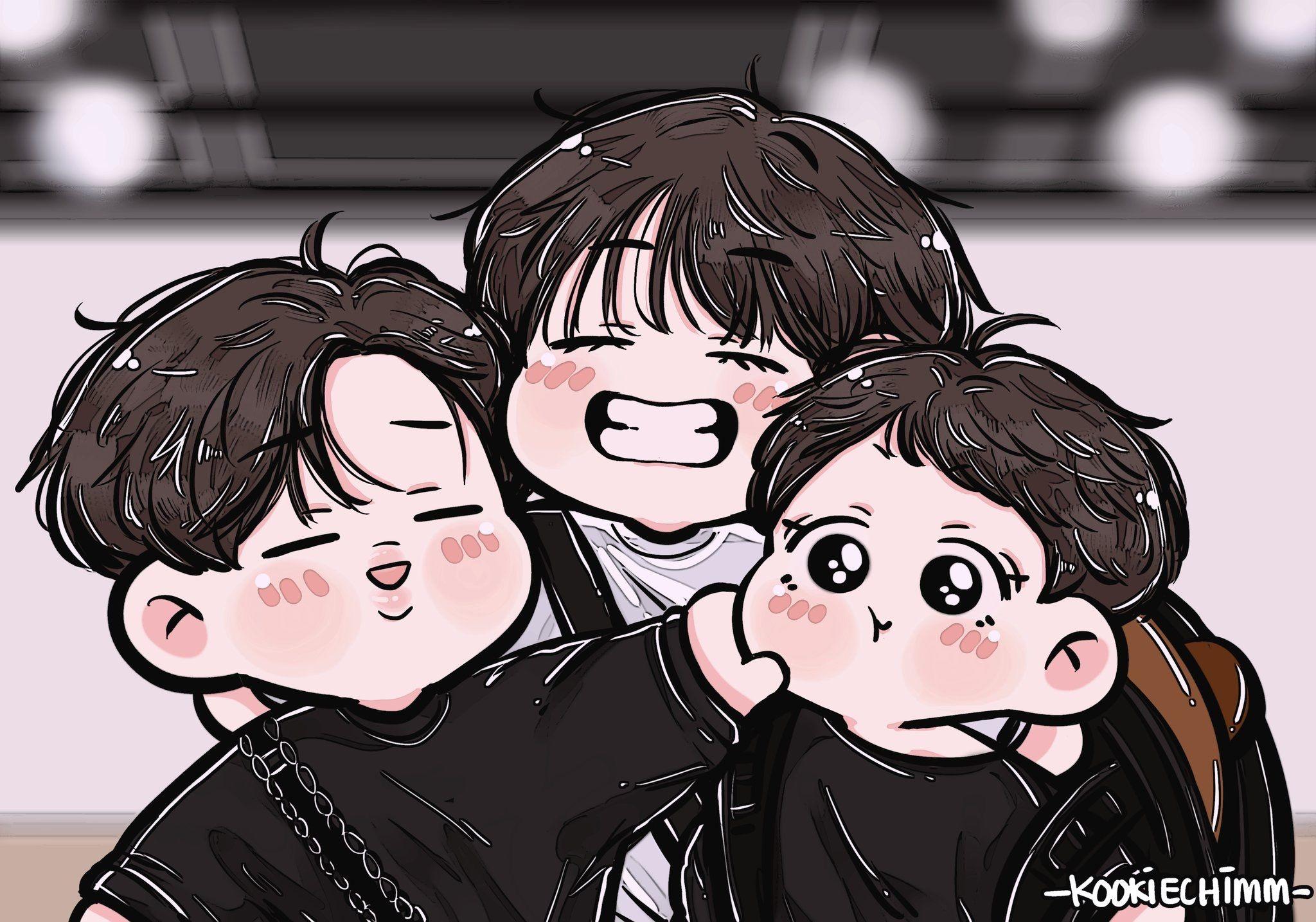 Pin on BTS cute fan art