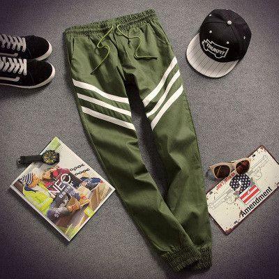 Fashion Casual Slim Mens Pants Chinos Track Pants Men Cotton Sweat Pants